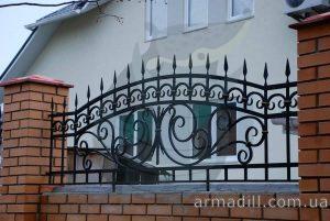 Кованные заборы и ограждения в Киеве