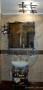 Кованные подставки под раковину и зеркала в Киеве
