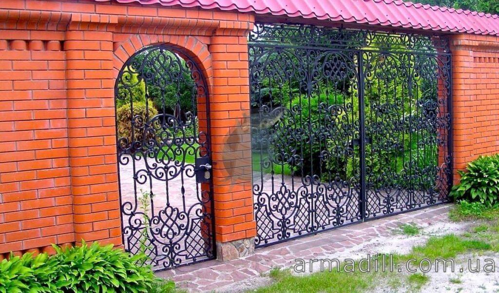 Кованые ворота: фото #0001